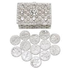 arras de boda wedding unity coins arras de boda with chest box and