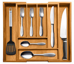 shop amazon cabinet amp drawer organization top rated bellemain pure bamboo expandable utensil cutlery and utility drawer organizer year warranty