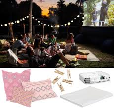 Backyard Movie Night Rental Backyard Movie Night Outdoor Goods