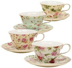 tea cup set gracie china chintz 8 ounce porcelain tea cup and