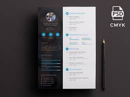 creative resume template free psd ui download