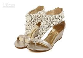 wedding shoes online india women s pearl t open toed wedge sandals shoes