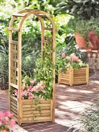 louvered wooden planter with trellis gardener u0027s supply company