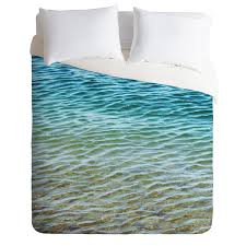 Beach Bedspread Amazon Com Deny Designs Shannon Clark Ombre Sea Duvet Cover