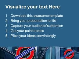 underground travel powerpoint template 0910