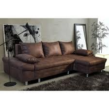 canapé d angle coffre de rangement canapé d angle convertible marron vieilli en tissu avec coffre de