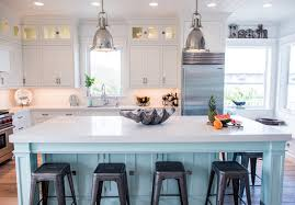 satin nickel white kitchen love everything about this coastal white kitchen with turquoise island home bunch interior