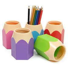 Dstockage Papeterie Nouveau Mode Stylo Vase Crayon Pot Maquillage Brosse Titulaire