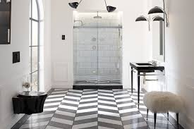 peel and stick floor tile bathroom traditional with black black