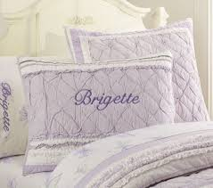 Pottery Barn Down Comforter Brigette Ruffle Quilted Bedding Lavender Pottery Barn Kids