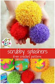 Unique Kitchen Gifts Pattern Scrubby Splash Balls Free Crochet Super Easy And