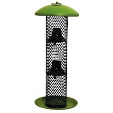 no no green straight sided sunflower tube wild bird feeder