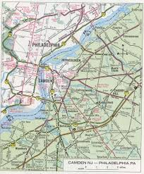 Map Of New Jersey And Pennsylvania by Camden Nj Road Map