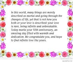 10th year wedding anniversary happy anniversary to husband quotes sayings