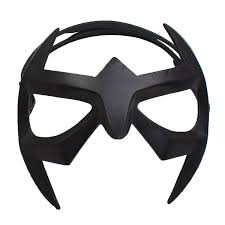 nightwing mask superhero black resin eye mask with elastic cord