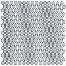 splashback tile bliss edged hexagon polished gray 12 in x 12 in