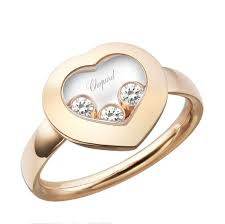 floating diamond ring chopard heart ring gold with 3 floating diamonds 829203