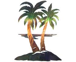 outdoor metal palm trees birthday cake ideas