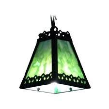 Wrought Iron Mini Pendant Lights Green Mini Pendant Light Green Glass Shade Wrought Iron Mini