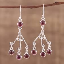Red Chandelier Earrings Red Garnet Chandelier Earrings Jewelry Flatheadlake3on3