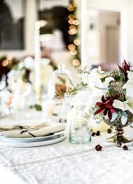 White Christmas Centerpieces - our holiday dining room with home depot a vintage white