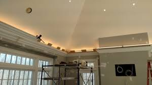 crown molding lighting pro install led lighting behind flying crown molding the joy of