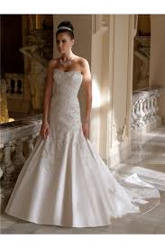 chapel wedding dresses strapless satin embroidery beaded wedding dress chapel