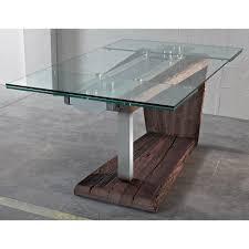 tavoli design cristallo gallery of tavolo da soggiorno mazul tavolo design allungabile
