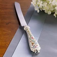 wedding gift knives lenox fancy cake bread challah knife floral