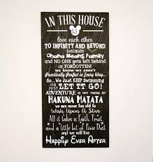 in this house we do disney wooden sign disney sign shabby