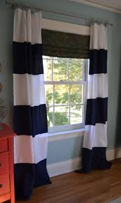 Rugby Stripe Curtains by Blue And White Striped Curtains Black And White Striped Kitchen