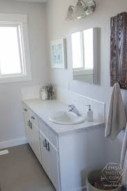 Bathroom Ideas For Small Spaces On A Budget Remodelaholic Diy Bathroom Remodel On A Budget And Thoughts On
