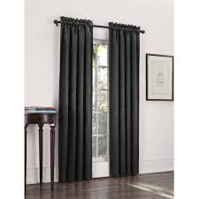 Light Blocking Curtain Liner Sun Zero Caleb Linen Texture Thermal Insulated Energy Efficient