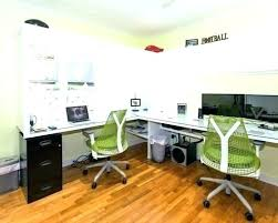Home Office With Two Desks Two Person Desk Home Office Glassnyc Co