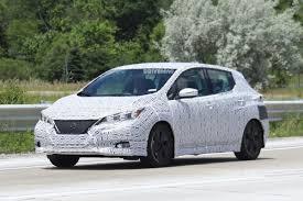 2018 nissan leaf spied inside and out will get propilot self