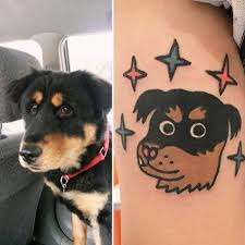 south korean artist turns pets into adorable tattoos