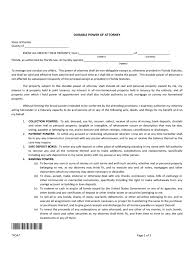 Statutory Durable Power Of Attorney Form by Florida Power Of Attorney Form Free Templates In Pdf Word