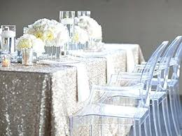 Wedding Linens For Sale 90 90 Square Shiny Silver Glitter Sequin Tablecloth Table Overlay