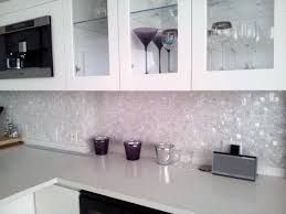 Mirrored Mosaic Tile Backsplash by Kitchen Design 20 Photos White Mosaic Tile Kitchen Backsplash