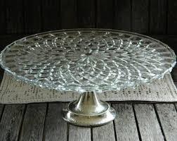 Crystal Pedestal Cake Stand Crystal Cake Stand Etsy