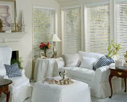 Wood Venetian Blinds Ikea Decorating Elegant Windows Decor Idea With White Wood Blinds