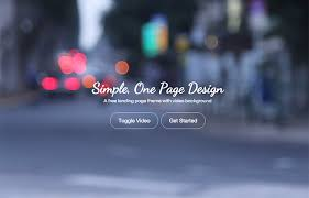 landing zero free bootstrap video background template graygrids