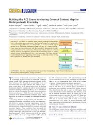 Scf Campus Map Building The Acs Exams Anchoring Concept Content Map For