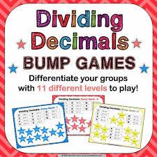 dividing decimals bump games u2013 games 4 gains