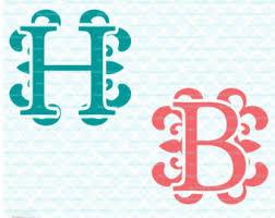 monogram initials monogram initials etsy