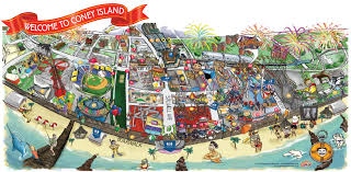 Map Ny Coney Island New York Map New York Map
