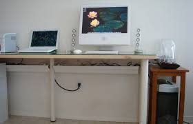 Cable Management Computer Desk Rain Gutters As Cable Management Tools For Popular House Desk With