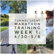 tunnel light marathon 2018 run hike play tunnel light marathon training week 1 4 30 5 6