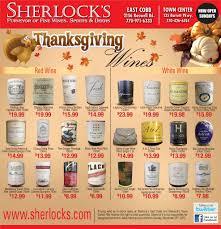 thanksgiving wines from sherlock s sherlock s marietta east cobb
