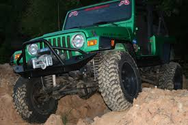 jeep lifestyle tj lj lifestyle winch bumper fab fours